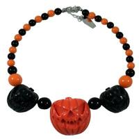 Kreepsville 666 Jack o Lantern Pumpkin Halloween Gothic Horror Necklace JNJOL2BO