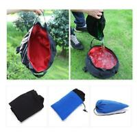 1* Outdoor Survival Folding Washbasin Pot Bag Camping Wash Basin Equipment Green