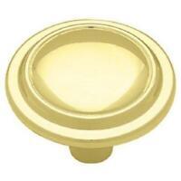 "Knob Hill P50094V-PL1 /""Retro/"" Cabinet Knob Polished Brass /& Maple Wood"