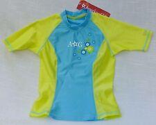 Surf n Swim Shirt American Girl Julies Aqua & Turquoise floral Nylon/ Spandex XS