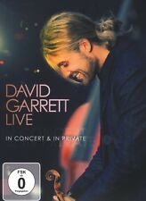 "DAVID GARRETT ""LIVE- IN CONCERT & IN PRIVATE"" DVD  NEW"