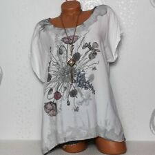 Damen T-Shirt Bluse Top Tunika Glitzer Batik 38 40 Italy