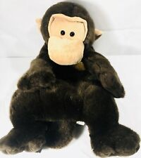 Monkey Plush Backpack Stuffed Animal Jungle Friends Zippered Closure 15""