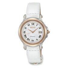Relojes de pulsera fechos Seiko de piel