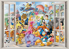 Disney Winnie The Pooh Princesa Ventana Pegatinas de pared efecto 3D Cartel Vinilo 130