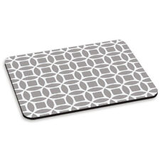 RETRO CIRCLES GREY PATTERN PC COMPUTER MOUSE MAT PAD - Cute Tribal Aztec