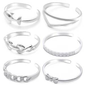 High Polished Sterling Silver Toe Rings for Women Beach Jewelry- Kezef Creations
