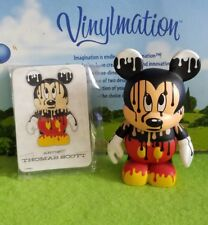 "Disney Vinylmation 3"" Park Set 4 Urban Paint Drip Mickey Mouse with Card"