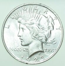 More details for usa, united states peace dollar, $1, 1923 silver coin bu