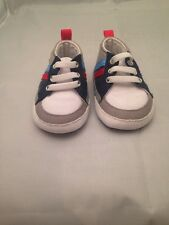 Baby Place 0-3 Months White And Grey Shoes - Brand New
