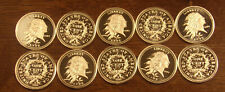 10 One 1 Gram .999 Silver Rounds 1793 Large Cent.....Free Shipping..Lot A53