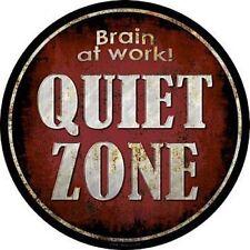 Metal Tin Sign round quiet zone decor Bar Pub Retro Poster 30cm diameter