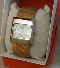 "*nEW oLD sTOCK* LOVELY "" MOTHER OF PEARL"" DIAL/BANGLE Watch / CORK COVERED BAND"