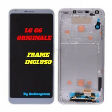 DISPLAY+ TOUCH SCREEN+FRAME COVER ORIGINALE LG G6 H870 OPTIMUS SILVER GRIGIO LCD
