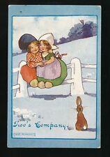Children Artist AGNES RICHARDSON Dutch girls Two's company 1912 PPC