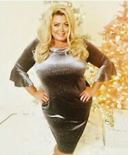 Gemma Collins Size 22 Celine Silver Dress New with tags