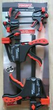 Powerfix Profi One-Handed Bar Clamps, BRAND NEW SET OF 4