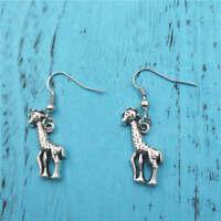 Giraffe Silver earrings,women Fashion pendants handmade jewelry ear stud