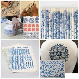 DIY Transfer Paper Pottery Ceramics Clay Glaze Underglaze Figure Flower Applique