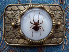 New Handcrafted Fantôme araignée Boucle de ceinture Antique Gold Metal Western, Cow-boy