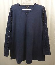 Women's Lucky Brand Mixed  Thermal  Shirt  2X