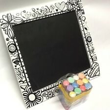 Decorative Chalkboard And Chalk 12pk w/ Reusable Bag Chalkboard 12 1/2 X 12in