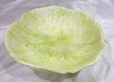 vintage 1950's Holland Mold large lettuce/cabbage leaf serving bowl, 11 1/2''