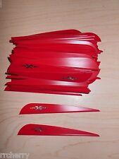 """100 4"""" Red VaneTec V-Max Vanes! archery arrow fletching vane tec"""