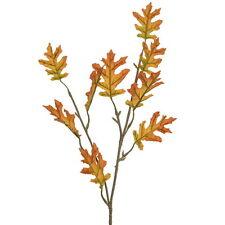 FOGLIA di quercia raccolto ARTIFICIALE SPRAY GIALLO - 66cm-Autunno Foglie finte