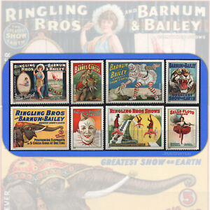 2014  VINTAGE CIRCUS POSTERS Complete Set of 8 USPS Forever® Stamps  # 4898-4905
