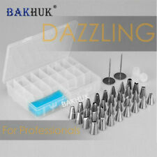 38pcs Piping Tips Stainless Steel Nozzles Pastry Confectionery Tools Icing tips