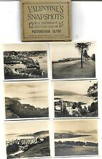 VALENTINE'S SNAPSHOTS  of  CLYDE  -12 B&W Scenic Views VINTAGE