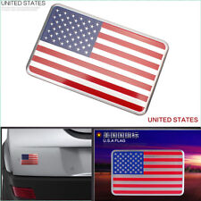 1X Decal Metal Emblem Badge Car Auto Fender Side Skirt Sticker USA American Flag