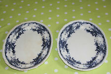 Two Fenton Staffordshire Victorian ovals