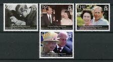 BAT British Antarctic Ter 2017 MNH Queen Elizabeth II Platinum Wedding 4v Stamps