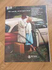 1965 Bell Telephone Ad Don't Forget to Call a Taxi