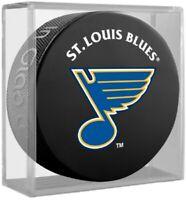 St. Louis Blues Basic NHL Team Logo Souvenir Hockey Puck (in Display Cube)