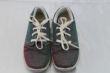 Primigi Mädchen Schuhe 32 Sneaker Halbschuhe Schnürer blau pink rosa Glitzer