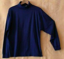 Navy Men turtleneck long-sleeve shirt by Trendo basic, size US LARGE
