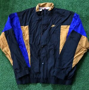 Vintage 90s Nike Gray Tag Windbreaker Jacket Men's XL