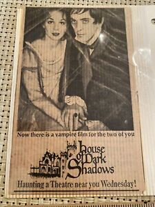1970 newspaper ad horror movie House of Dark Shadows Barnabas Collins Vampire
