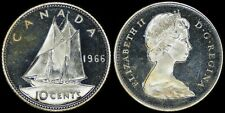 CANADA 10 CENTS 1966 SILVER (PROOFLIKE) *BEAUTIFUL CAMEO CONTRAST*