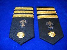 Vintage Pair Epaulettes Shoulder Boards Insignia Commander Greek Navy