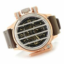 New Mens Invicta 20259 Reserve Vintage Cross Bar Swiss Chronograph Leather Watch