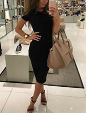 Damen Kleid Bodyform Größe L Abend Party Cocktail Club Buisiness Kleid Schwarz