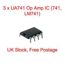 3 x UA741 Op Amp IC (741, LM741) - DIP/DIL8