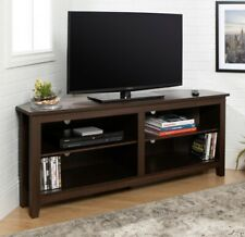 TV STAND ENTERTAINMENT CENTER Corner Media TVs up to 60 Inch Brown Espresso