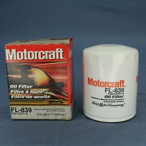 New Motorcraft FL-839 Spin-on Engine Oil Filter Replacement