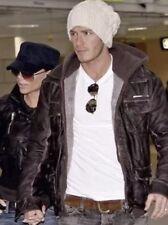 Chaqueta de cuero para hombre de Superdry Brad-Tamaño Pequeño-David Beckham-Vintage Marrón