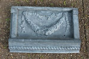 Antique Victorian Architectural Tin Metal Wall Covering Element Floral Bunting